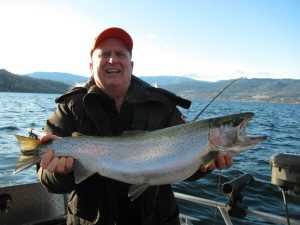 Trophy rainbow from Okanagan Lake BC