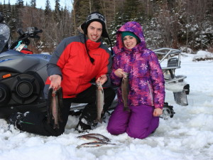 Ice fishing in kelowna