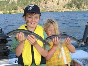 Kids and Kokanee - Wood lake BC